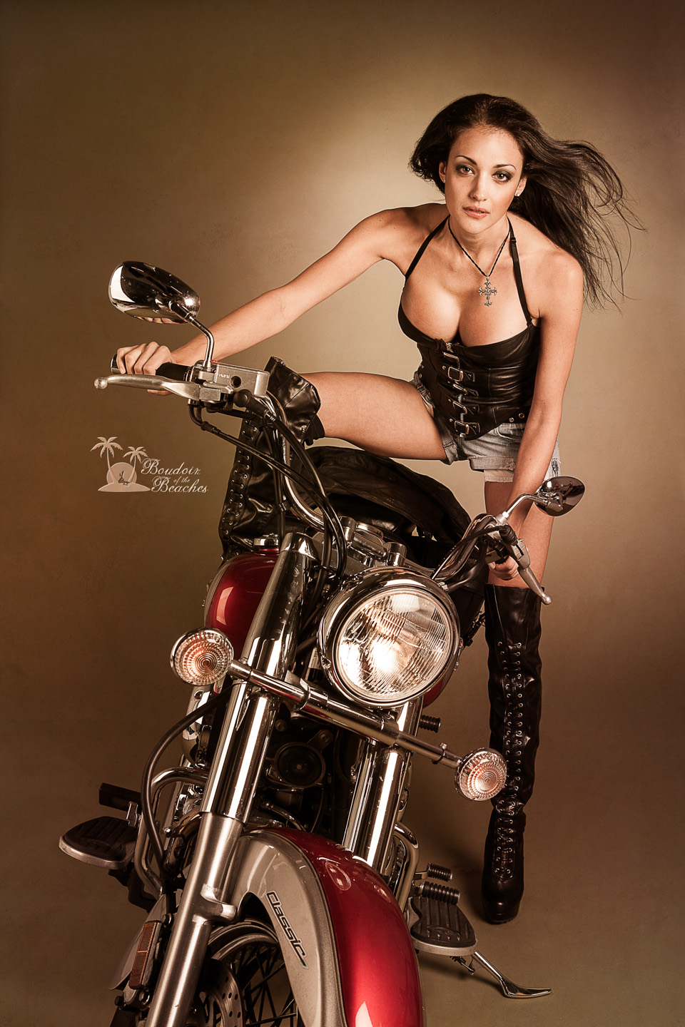 Biker Babe Boudoir photography Collection - Boudoir of the Beaches