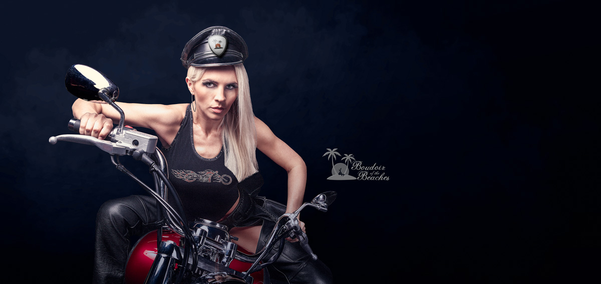 Biker Babe Boudoir photography Hollywood FL