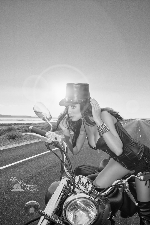 Biker Babe Boudoir photography Hollywood FL